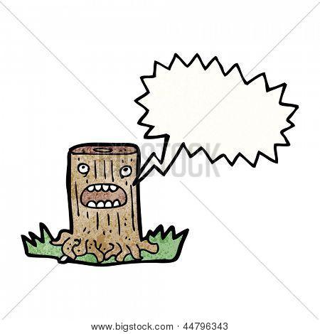 tree stump cartoon character