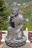 pic of lantau island  - Giant Buddha complex on the Lantau island  - JPG
