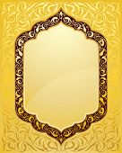 elegant islamic template design in gold background
