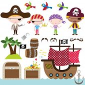 stock photo of pirates  - Pirate Elements - JPG
