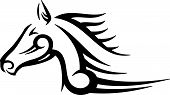 pic of great horse  - Tribal Horse vector illustration great for vehicle graphics stickers and T - JPG