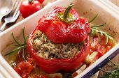 stock photo of hari  - stuffed peppers - JPG