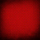 red background with grid pattern