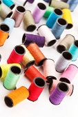 bobbins of lurex thread