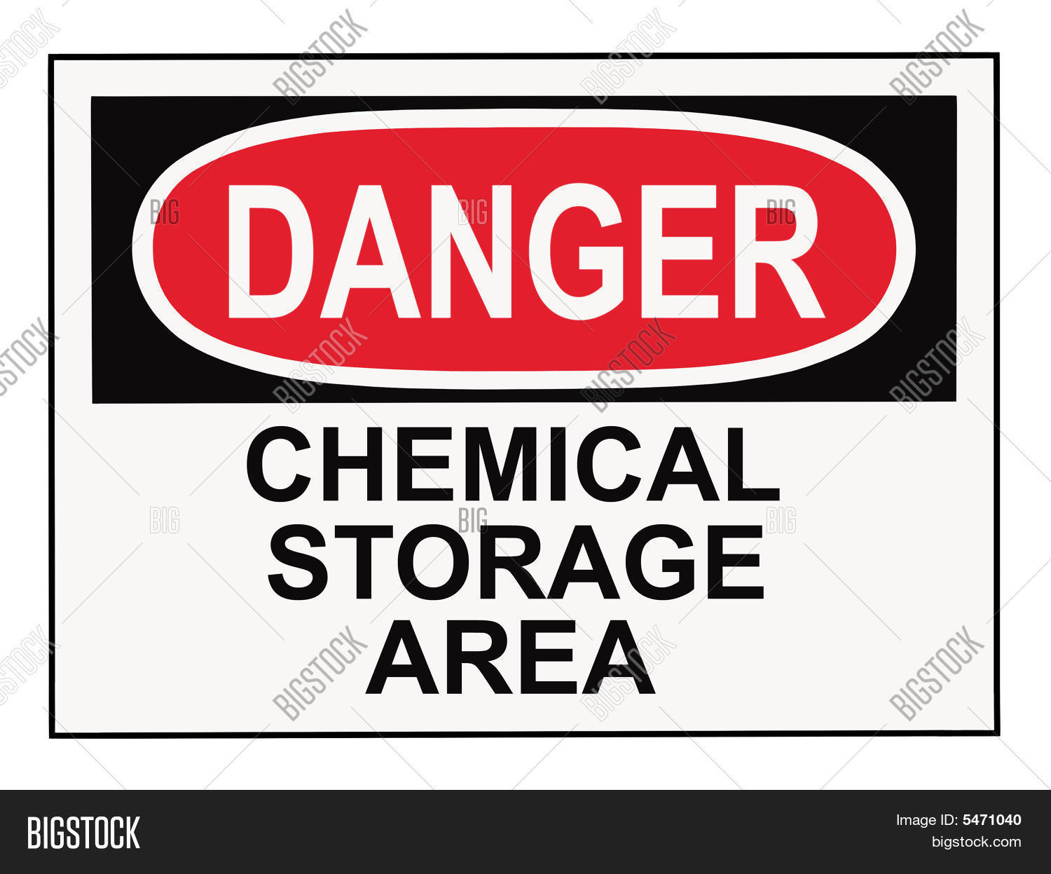 Danger Chemical Storage Area Image Amp Photo Bigstock