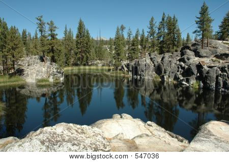Alpine Lake In The Sierra Nevada's