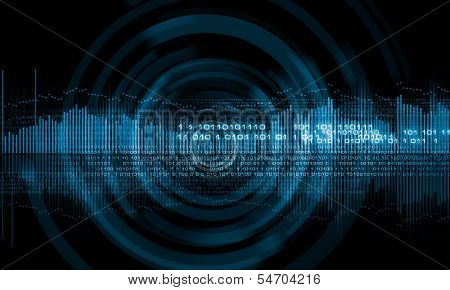 Background digital image with binary code. Technology concept