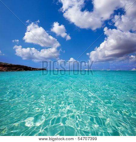 Formentera Cala Saona beach one of the best beaches in world near Ibiza