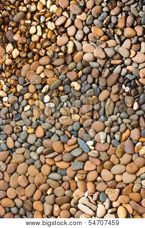 Round Peeble Stones Background