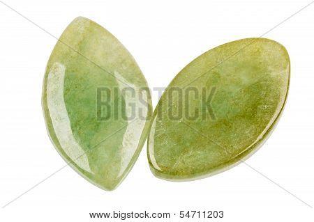 Pair Of Jade Leafs