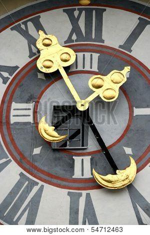 Detail of Uhrturm clocktower, Graz, Austria