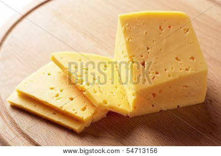 Block Of Cheese Cut Into Slices