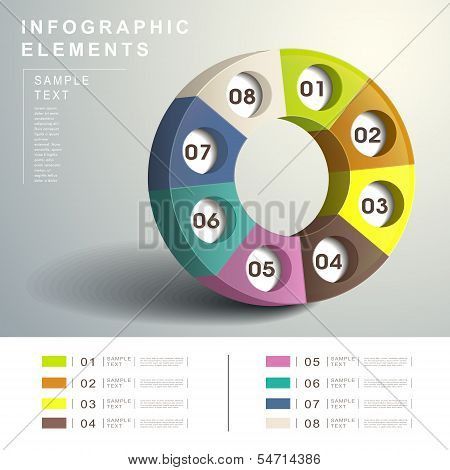 Abstract 3D Dialpad Infographics