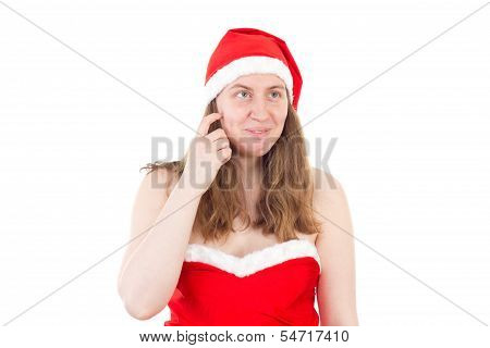 Mrs. Claus Thinking What She Could Give You As Gift