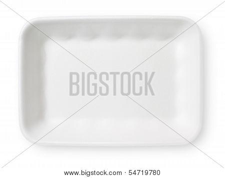 White Styrofoam Food Tray