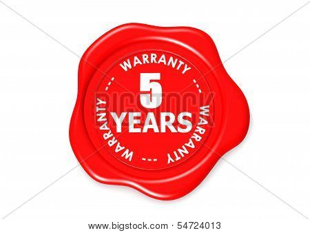 Five years warranty seal