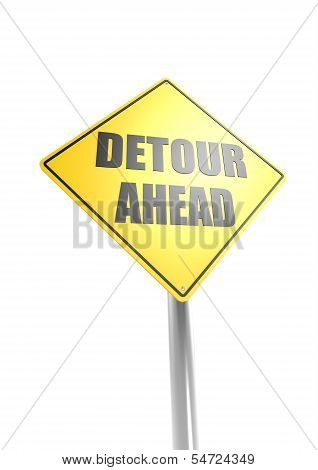 Warning Sign - Detour Ahead