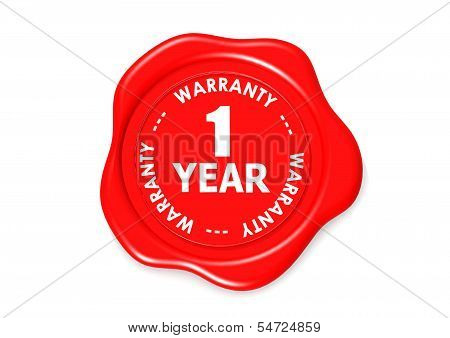 One year warranty seal