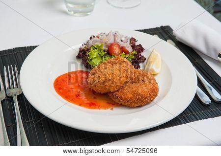Fishcake With Sweet Chilli Sauce