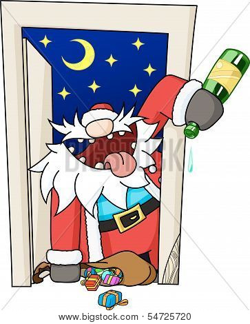 Party Christmas Cartoon, Door