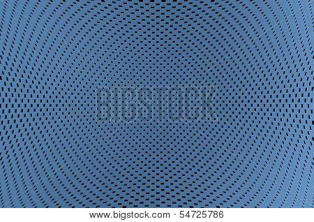 Abstract Blue Background With Black Squares Array In A Concave Shape