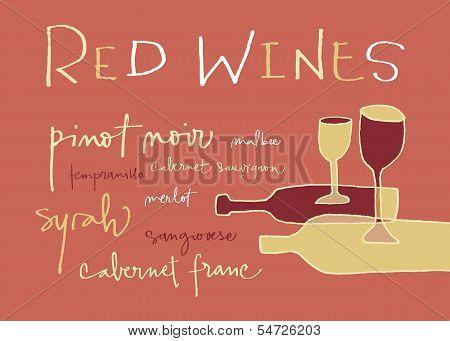 Red wines varieties
