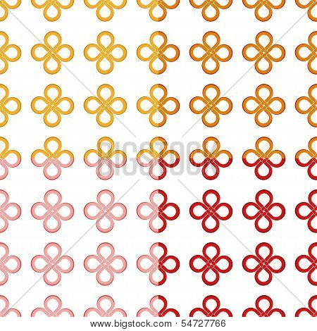 Clover leaf (good luck) knot seamless pattern