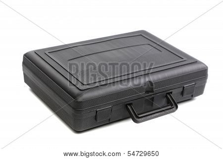 Black plastic case.