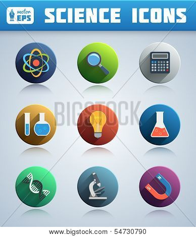 Circle Science Icons Pack