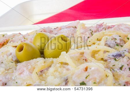 Milanese Spaghetti In Close Shot