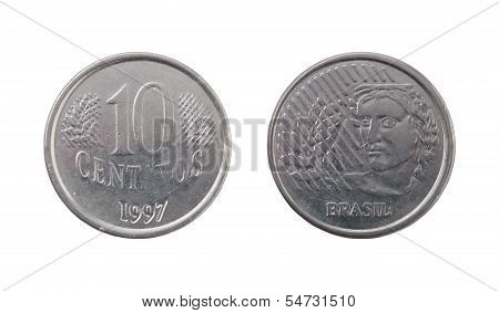 Ten Brazilian Real Centavos