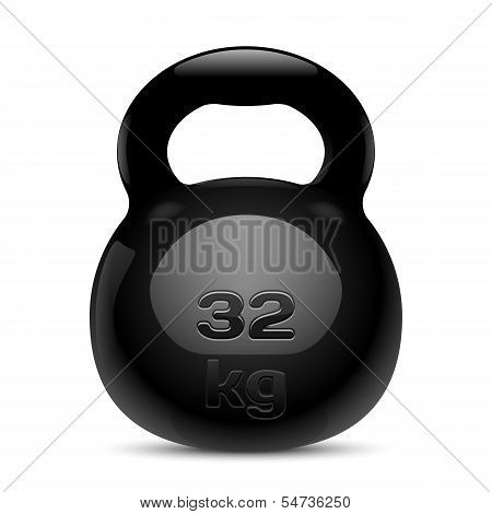 Kettlebell. Isolated. Vector