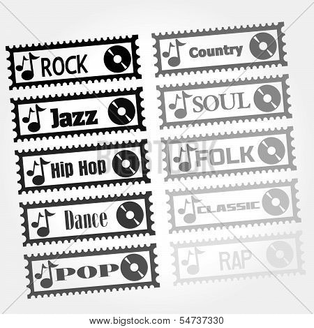 stamp of music style