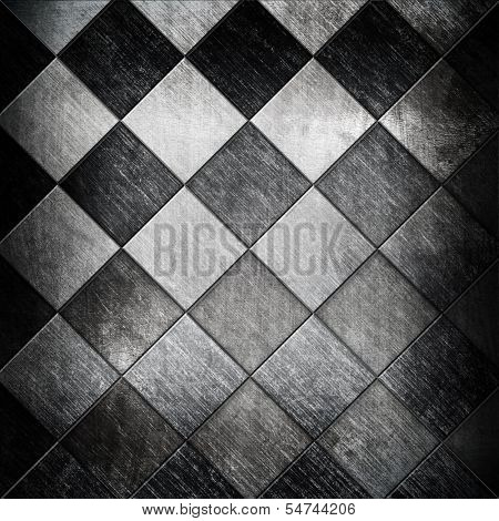 metallic grid background
