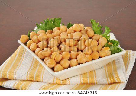 Garbanzo Beans In A Small Bowl