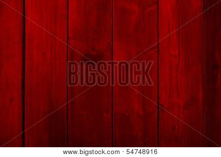 Concept or conceptual red old vintage wooden Christmas or Valentine`s Day plank wood wall background
