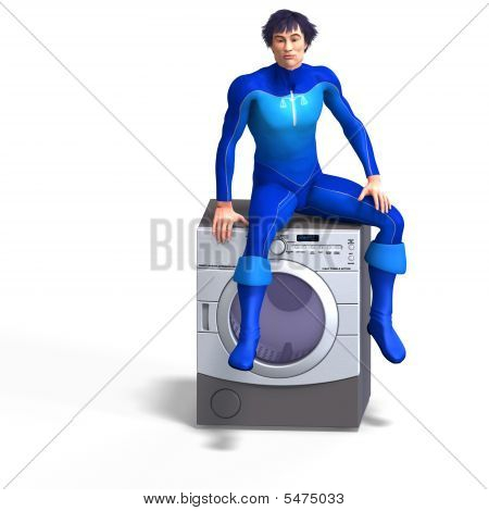 Superhero On A Dryer