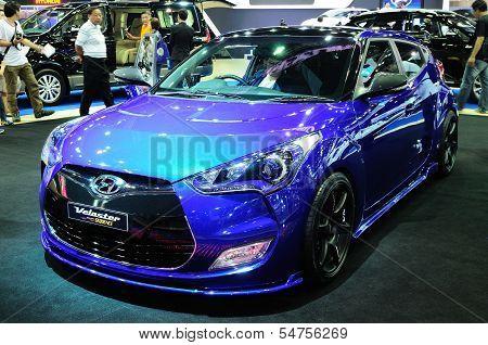 Bkk - Nov 28: Modified Hyundai Veloster On Display At Thailand International Motor Expo 2013 On Nov