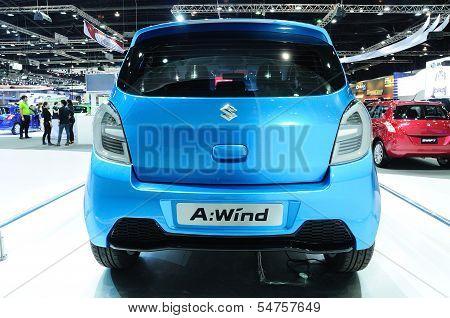 Bkk - Nov 28: Suzuki A-wind, Eco Concept Car, On Display At Thailand International Motor Expo 2013 O