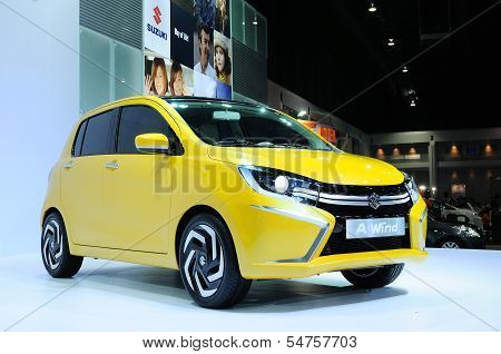 Bkk - Nov 28: Suzuki A-wind, Eco Concept Car, On Display At Thailand International Motor Expo 2013 O
