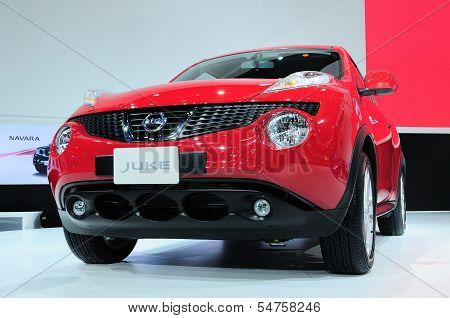 Bkk - Nov 28: The New Nissan Juke, Cross Over Car, On Display At Thailand International Motor Expo 2