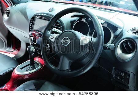 Bkk - Nov 28: Interior Of The New Nissan Juke, Cross Over Car, On Display At Thailand International