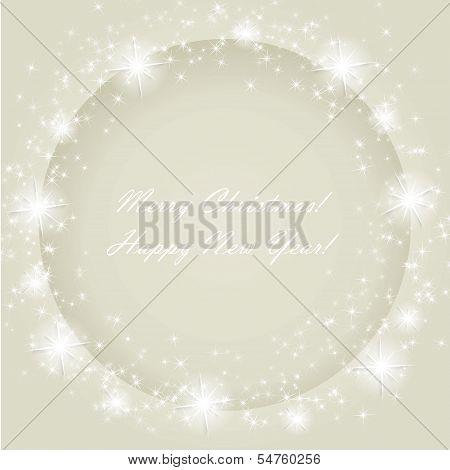 Christmas frame with stars.