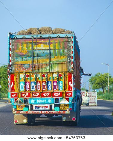 Colorful Painted Truck In India
