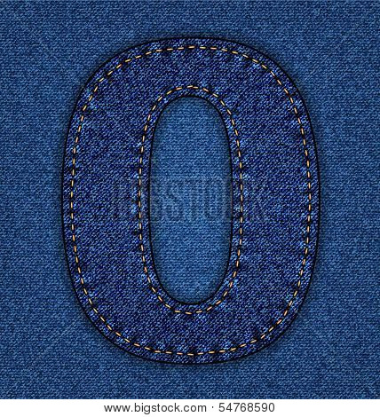 Jeans alphabet number 0