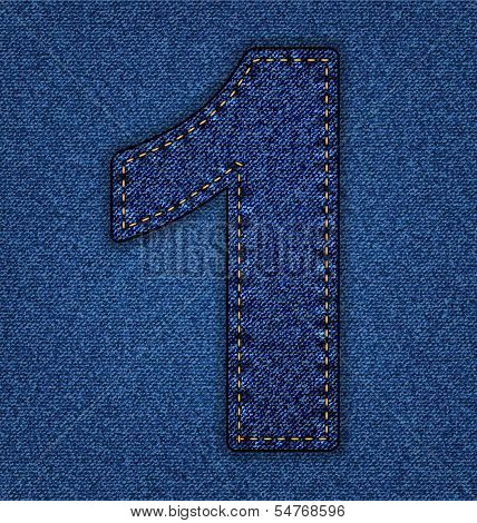 Jeans alphabet number 1
