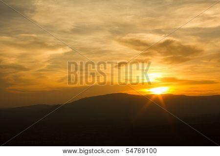 Sunset at Mountain