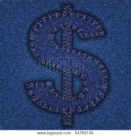 Jeans alphabet dollar