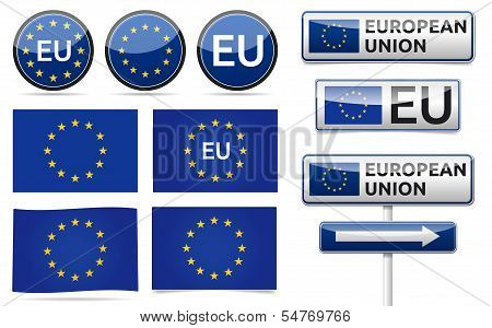 European Eu Flag Collection