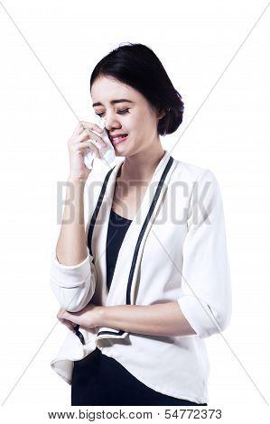 Beautiful Business Woman Crying